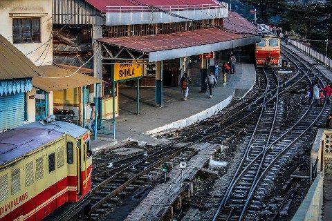 Shimla is the final stop on the famous Kalka- Shimla mountain railway