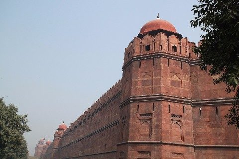 The walls of the Red Fort in New Delhi