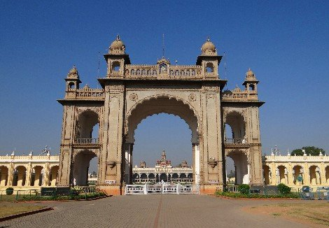 Main gate to Mysore Palace