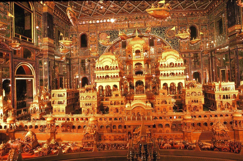 Inside the Ajmer Jain Temple