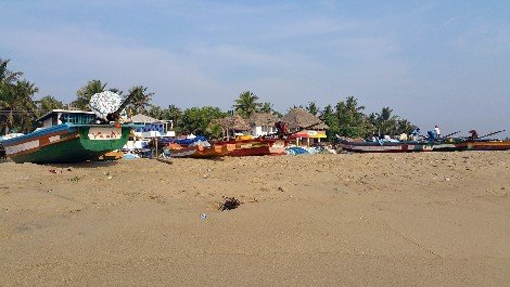 Fishing boats in Puducherry