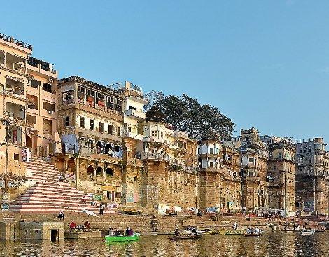 One of the 88 ghats in Varanasi