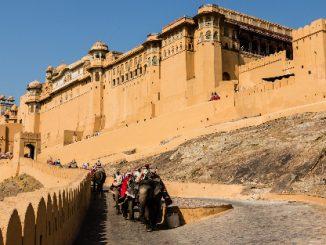 The Amer Fort in Jaipur