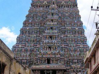 Gopura at the Meenakshi Temple in Madurai